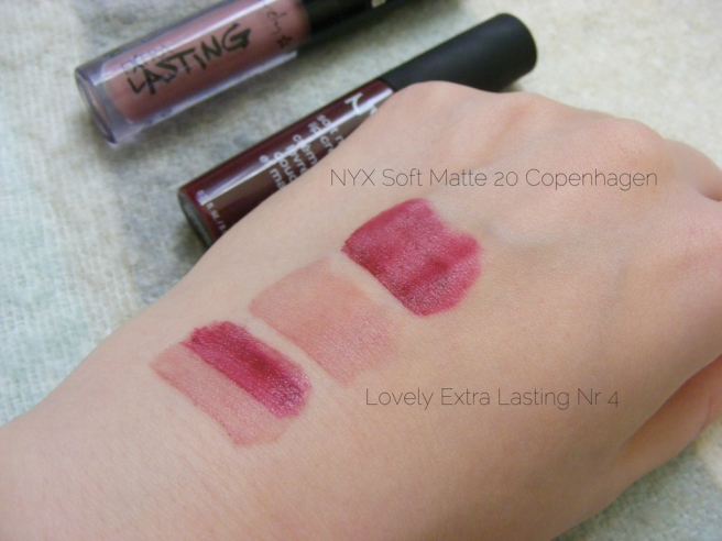 nyx lovely swatches